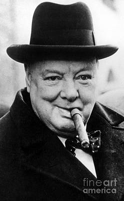 Cigar Photograph - Winston Churchill by English School