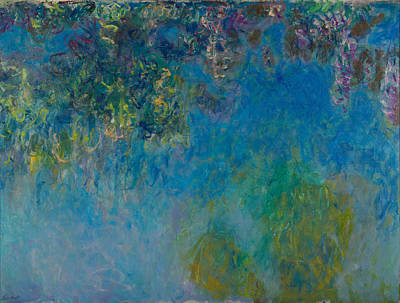 Photograph - Wisteria by Claude Monet
