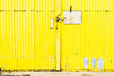 Construction Photograph - Yellow Metal  by Tom Gowanlock