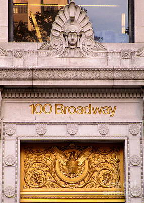 Photograph - 100 Broadway by Randall Weidner