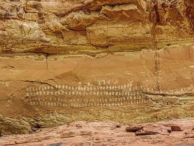 Photograph - 100 Hands Pictograph Panel by NaturesPix