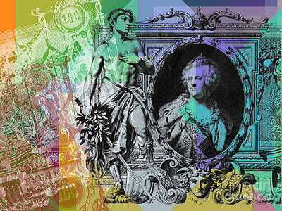 Digital Art - 100 Ruble Banknote Pop Art Collage #2 by Jean luc Comperat