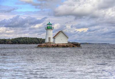 Digital Art - 1000 Island Lighthouse by Sharon Batdorf