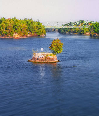 Small Bridges Digital Art - 1000 Island Scenes 12 - Tom Thumb Island by Steve Ohlsen