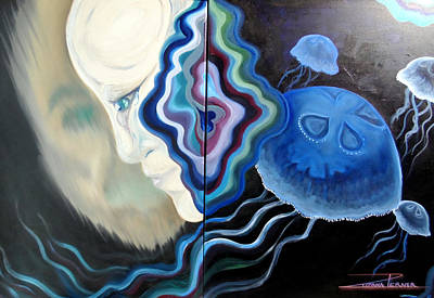 Painting - 1000 Miles Under The Sea by Zuzana Perner