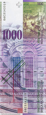 Digital Art - 1000 Swiss Franc Bill by Serge Averbukh
