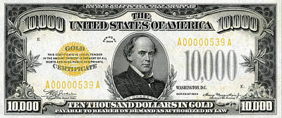 Vintage $10,000 Bill Circa 1934 Art Print