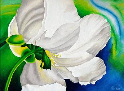 Painting - White Flower by Ramona Boehme