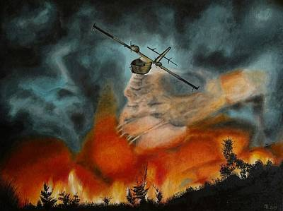Painting - Firefighter Plane by Ramona Boehme