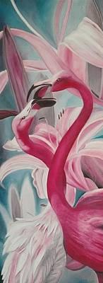 Painting - Tender Flamingos by Ramona Boehme