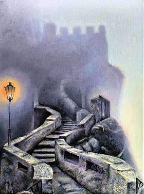 Painting - Stairway Up To The Castle by Ramona Boehme