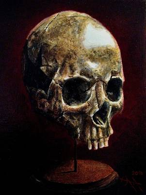 Painting - Skull On A Stand by Ramona Boehme