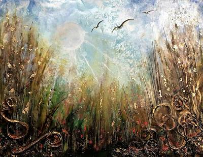 Painting - #1005 Golden Rays by Linda Skibinsky