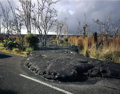 Photograph - 100925 Lava Flow On Road Hi by Ed Cooper Photography