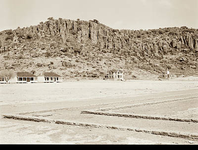 Photograph - 1009.301 Fort Davis Texas Antique Black And White by M K Miller