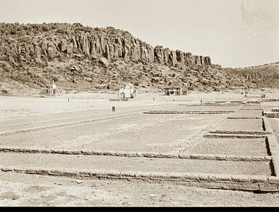 Photograph - 1009.302 Fort Davis Texas Antique Black And White by M K Miller