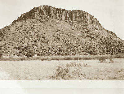 Photograph - 1009.303 Fort Davis Texas Antique Black And White by M K  Miller