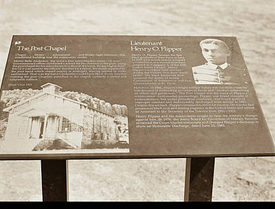 Photograph - 1009.306 Fort Davis Texas Antique Black And White by M K Miller
