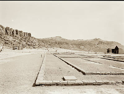 Photograph - 1009.307 Fort Davis Texas Antique Black And White by M K Miller