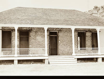 Photograph - 1009.309 Fort Davis Texas Antique Black And White by M K Miller