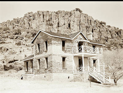 Photograph - 1009.311 Fort Davis Texas Antique Black And White by M K Miller