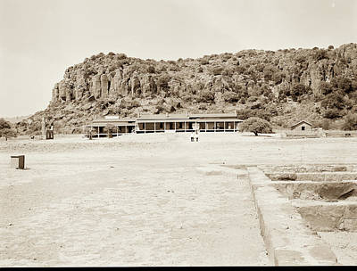 Photograph - 1009.314 Fort Davis Texas Antique Black And White by M K Miller