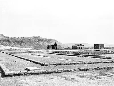 Photograph - 1009.500 Fort Davis Texas Classic Black And White by M K Miller