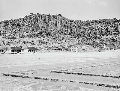 Photograph - 1009.501 Fort Davis Texas Classic Black And White by M K Miller