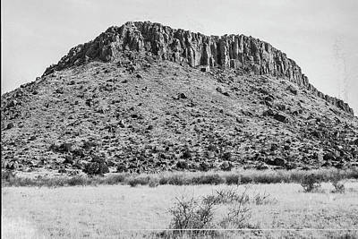 Photograph - 1009.503 Fort Davis Texas Classic Black And White by M K Miller