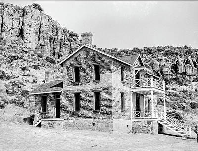 Photograph - 1009.504 Fort Davis Texas Classic Black And White by M K Miller