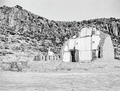 Photograph - 1009.505 Fort Davis Texas Classic Black And White by M K Miller