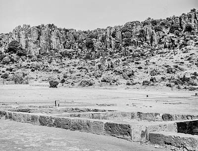 Photograph - 1009.513 Fort Davis Texas Classic Black And White by M K Miller