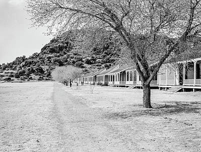 Photograph - 1009.515 Fort Davis Texas Classic Black And White by M K Miller