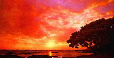 Sky Painting - Landscape Nature Art by Margaret J Rocha