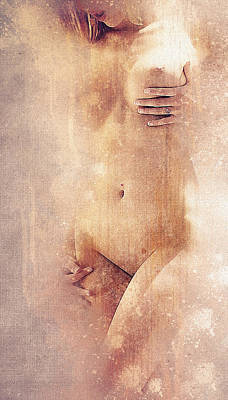 Breasts Digital Art - Nude by Elizabeth Simon