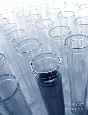 Test Tubes In Science Research Lab Art Print by Olivier Le Queinec