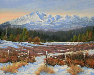 Pikes Peak Painting - 101202-1620  Winter Wonderland by Kenneth Shanika