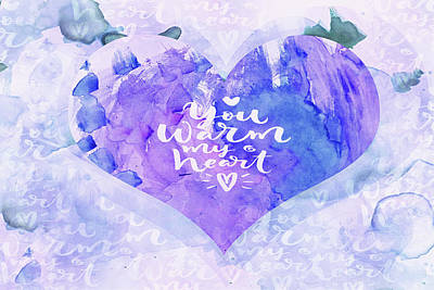 Mixed Media - 10150 Warm Heart by Pamela Williams