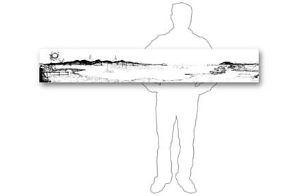 Drawing - 10.15.islands-5-horizontal-with-figure by Charlie Szoradi