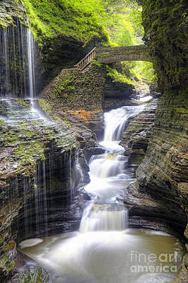 Watkins Glen New York Photograph - 1016 Rainbow Falls by Steve Sturgill