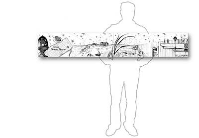 Drawing - 10.18.islands-6-horizontal-with-figure by Charlie Szoradi