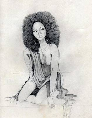 Afro American Art Drawing - 102 by Candace Williams