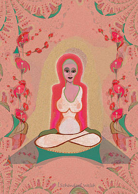 Egos Digital Art - 1024 - Meditation  ... by Irmgard Schoendorf Welch