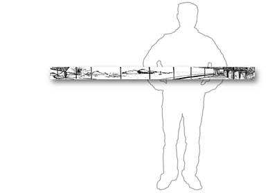 Drawing - 10.24.islands-7-horizontal-with-figure by Charlie Szoradi