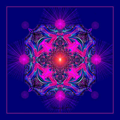 Painting - 1028 -  A Mandala Purple And Pink 2017 by Irmgard Schoendorf Welch