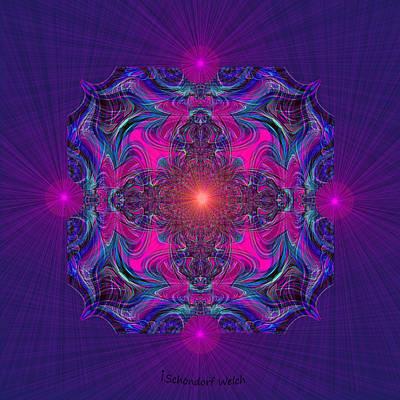 Painting - 1028 - Kaleidoscope Mandala ... by Irmgard Schoendorf Welch