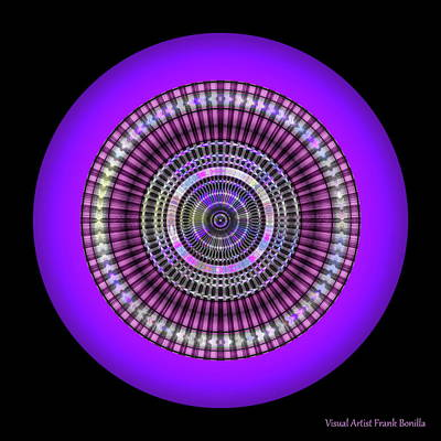 Round Digital Art - 102920173 by Visual Artist Frank Bonilla
