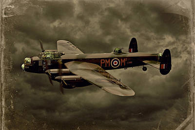 Manipulation Photograph - 103 Squadron Avro Lancaster by Steven Agius