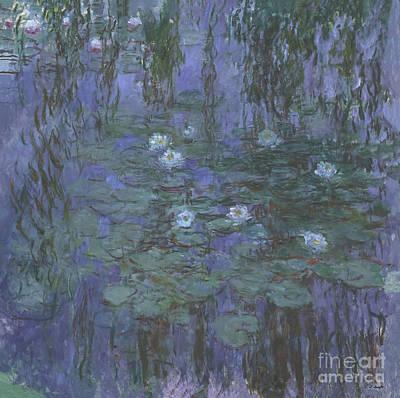 Door Locks And Handles - Water Lilies by Monet by Claude Monet