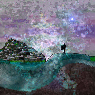 Digital Art - 1932 - On Mountain Top A Stormy Sky 2017 by Irmgard Schoendorf Welch